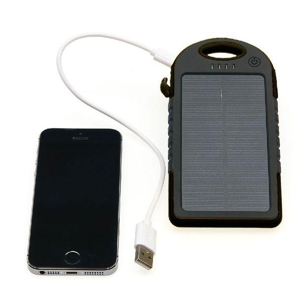 Chargeur solaire 5000 mAh noir