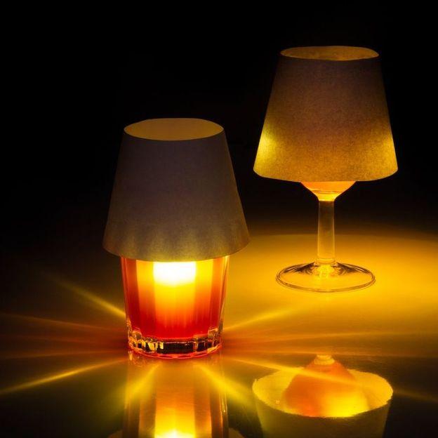 Schwimmendes Licht für Trinkglas