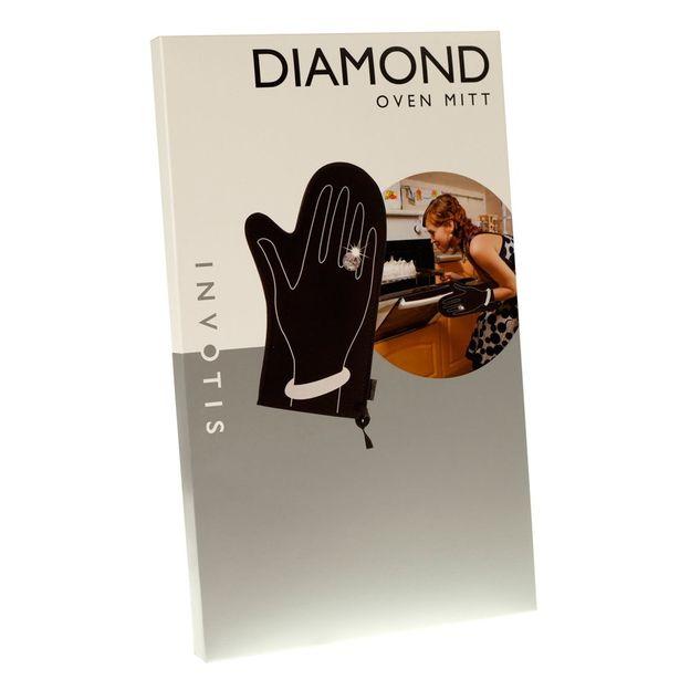Ofenhandschuh mit Diamantring