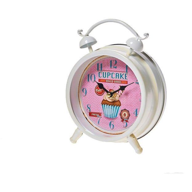 Horloge Pâtisserie Cupcake rose