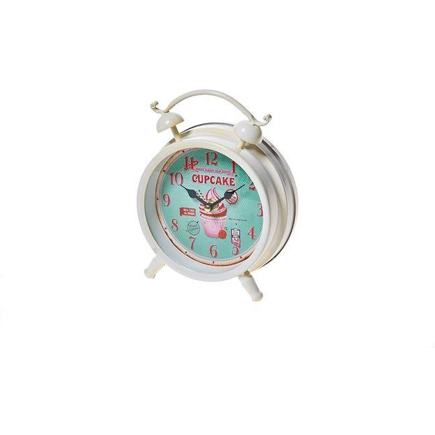 Horloge Pâtisserie Cupcake bleu
