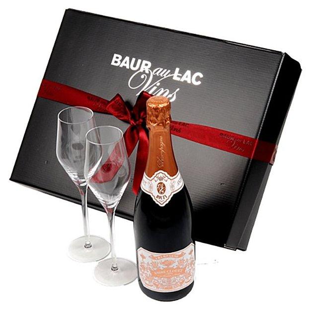 Rose-Champagner Geschenkset La Vie en Rose