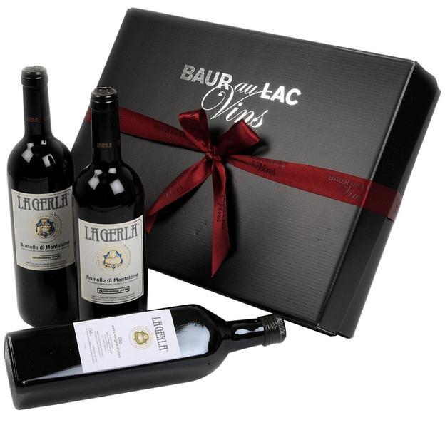 Coffret cadeau Baur au Lac Toscana classique, vin et huile d'olive