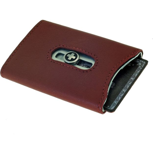 Porte-cartes cuir Superslim de Wagner rouge