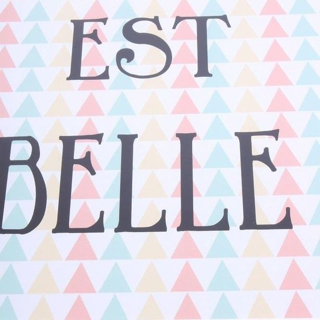 Bild mit Rahmen La vie est belle