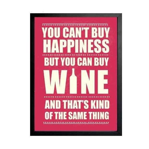 Bild mit Rahmen You cant buy happiness