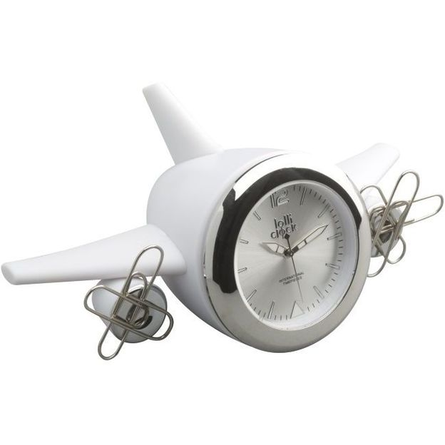 Horloge Lolliclock 2 en 1 blanche