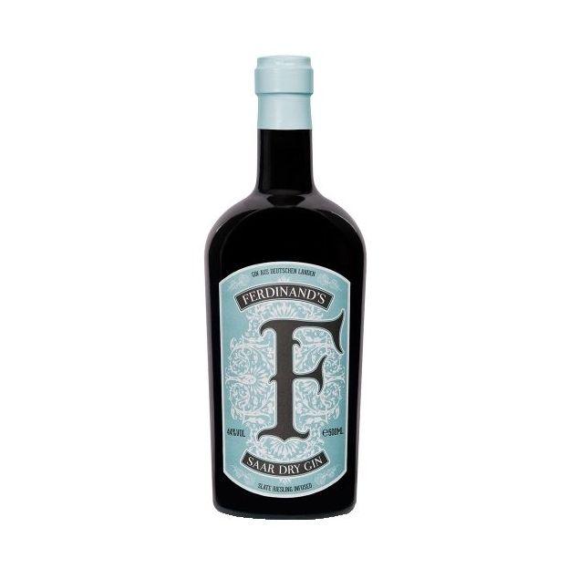 Set Caisse en bois Ferdinand's Saar Dry Gin et eau gazeuse Doctor Polidoris Dry