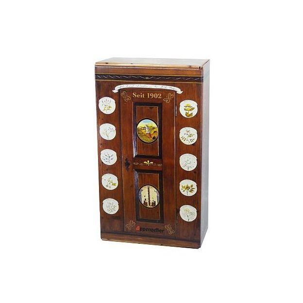 Appenzeller Kräuterschrank mit Shotglas und Kräutersäcklein