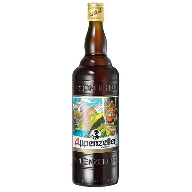 Coffret Appenzeller Alpenbitter avec verre à shot et sachet de plantes