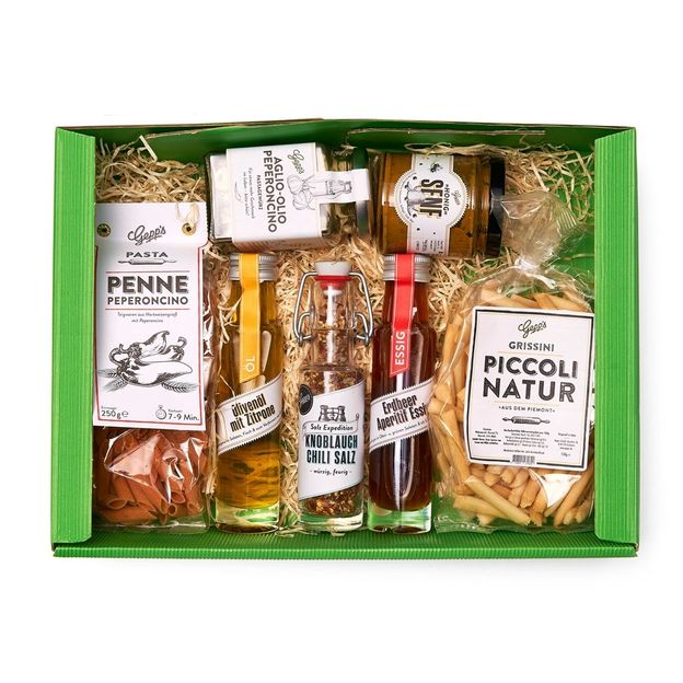 Geschenkset Penne Peperoncino und Grissini