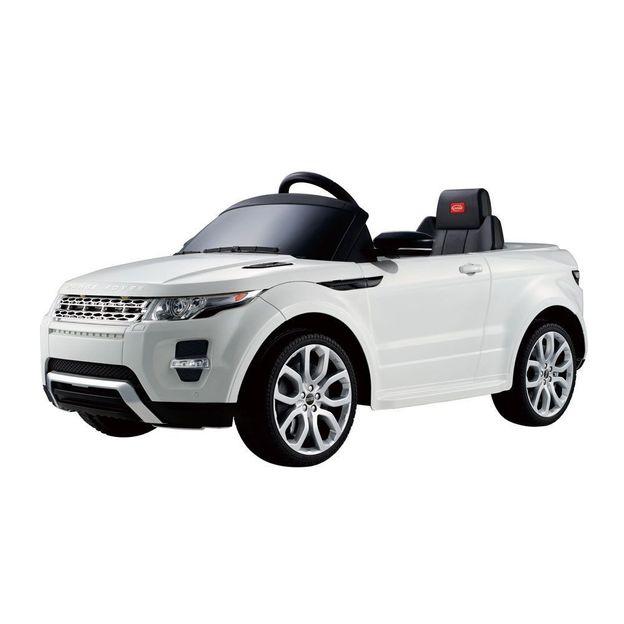 Voiture électrique pour enfant Land Rover Evoque blanc