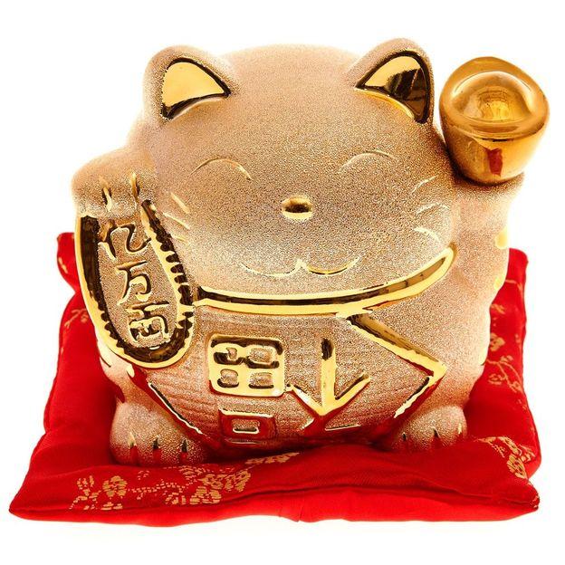 Spardose Maneki-neko die Japanische Winkekatze
