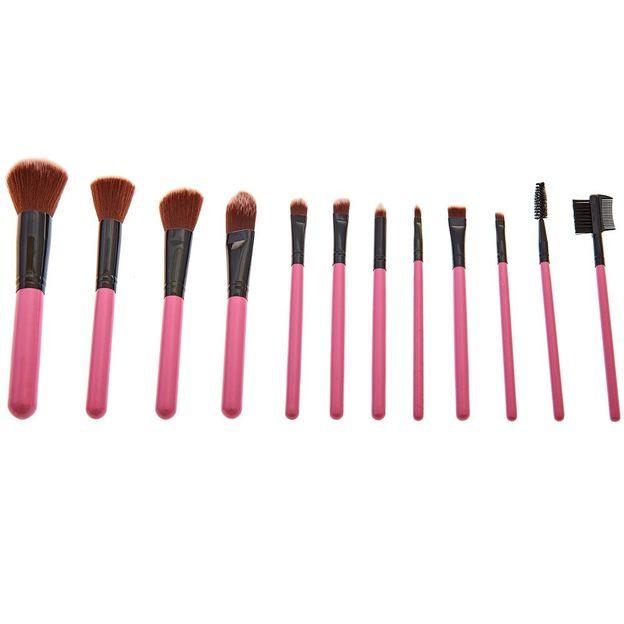 Set de pinceaux make-up et boîte à pois