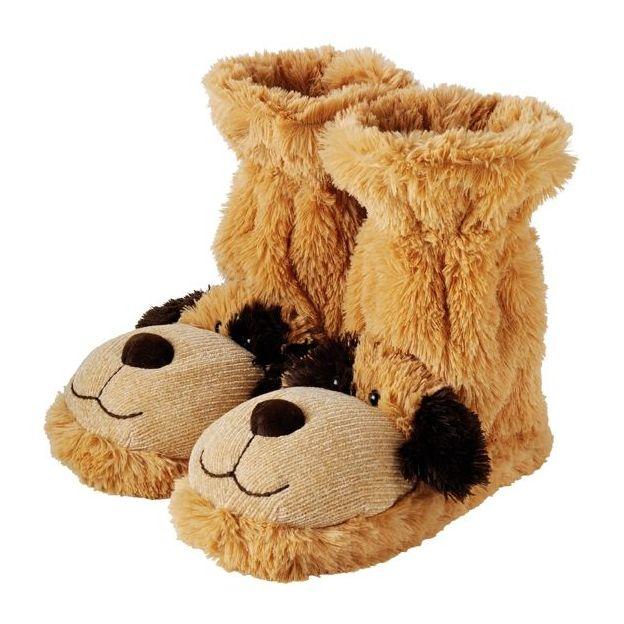 Pantoufles Fun For Feet Chien Fuzzy Friends