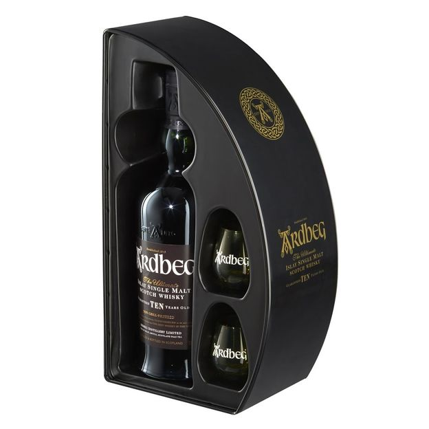 Ardbeg Whisky set avec 2 verres