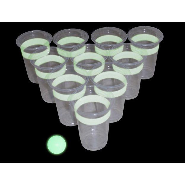 Jeu de Beer Pong lumineux
