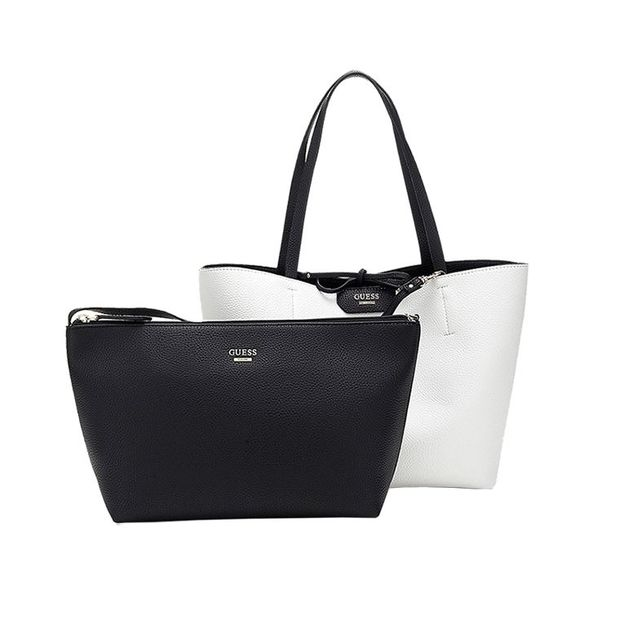 Guess Inside Out Shopper black and white