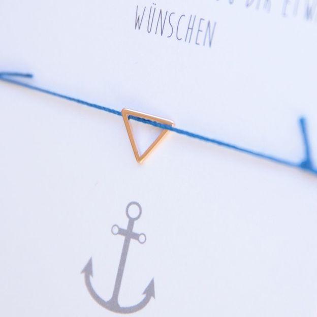 Bracelet Amitié avec pendentif triangle