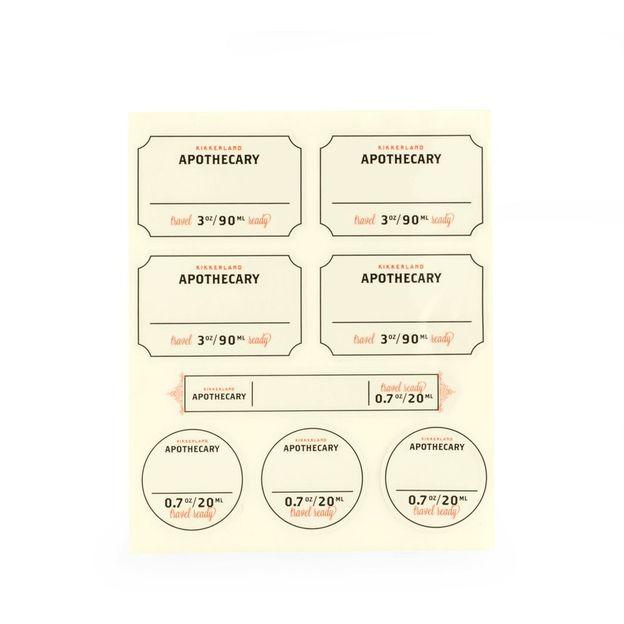 Reiseset befüllbar im Apotheken-Design