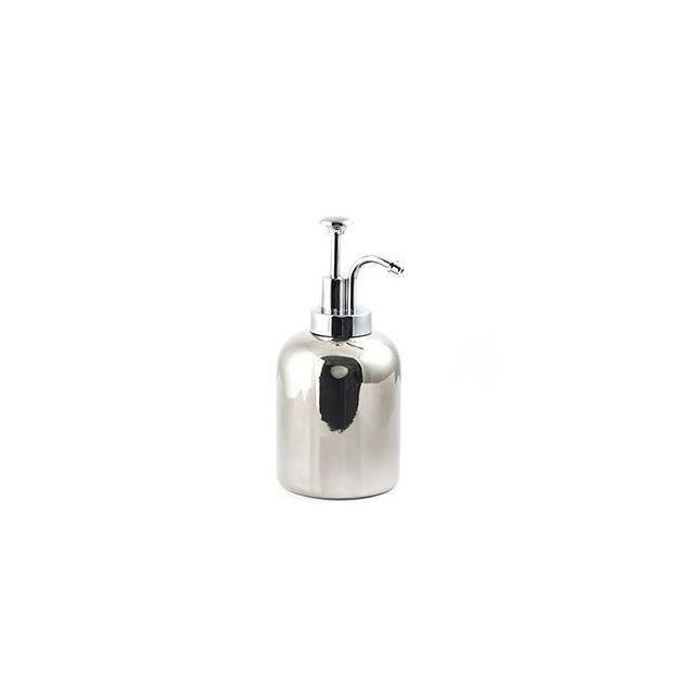 Distributeur de savon rétro argenté