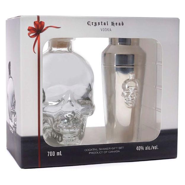 Crystal Head Vodka avec Shaker inox