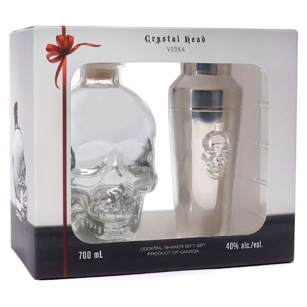 Crystal Head Vodka avec Shaker inox