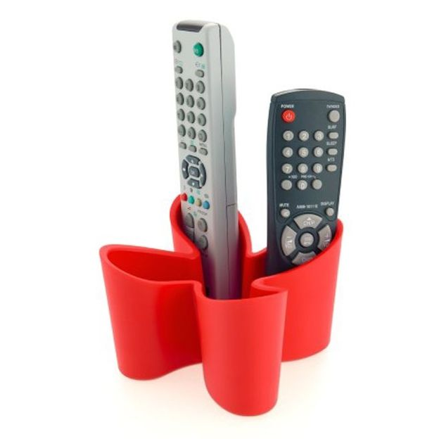 Support Cozy Remote Control Tidy rouge