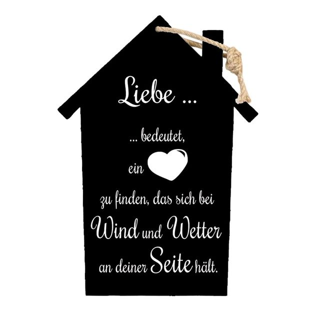 holzschild mit spruch zum aufh ngen. Black Bedroom Furniture Sets. Home Design Ideas