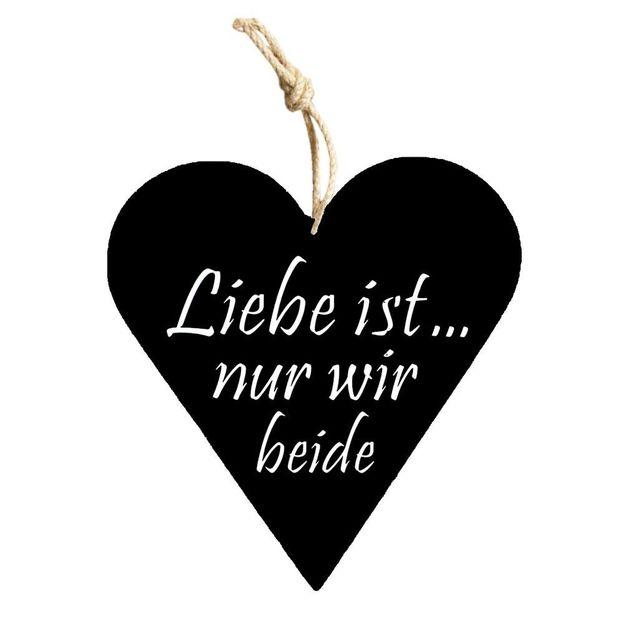 Holzschild mit Spruch zum Aufhängen Liebe ist...