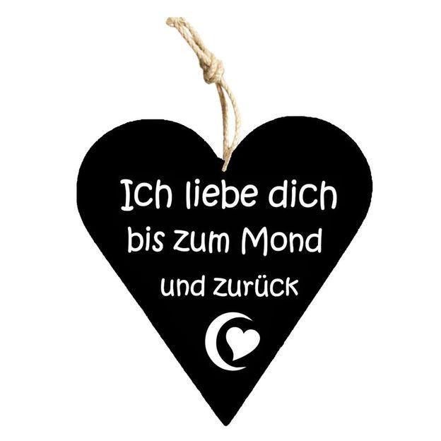 Holzschild mit Spruch zum Aufhängen Ich liebe dich...