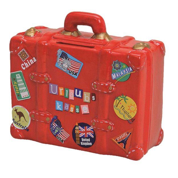 Spardose Reisekoffer aus Keramik