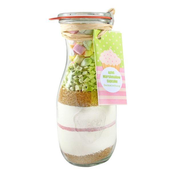 Cupcake Backmischung Apfel Marshmallow im Weckglas