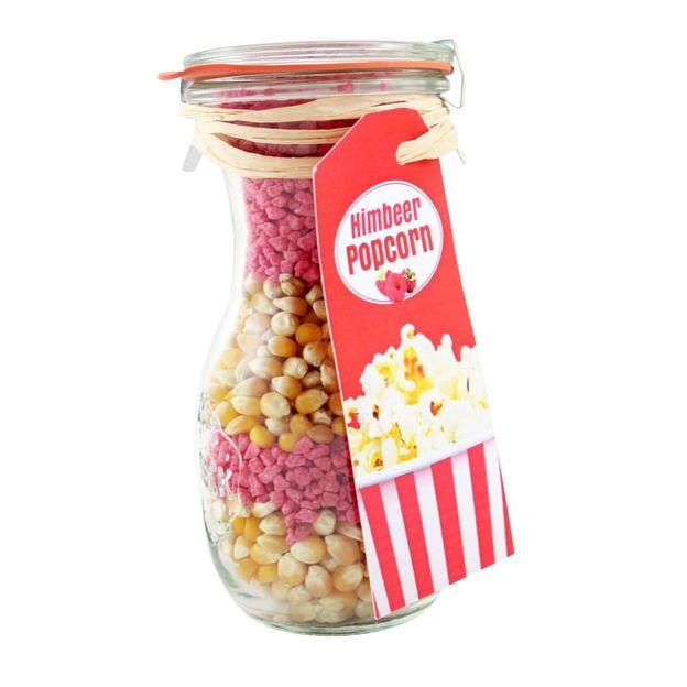 Popcorn im Weckglas Himbeer