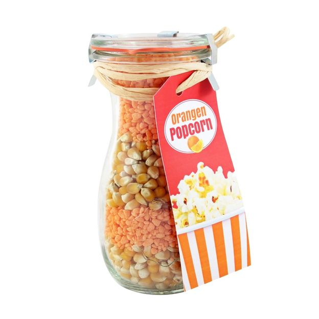 Popcorn im Weckglas Orange