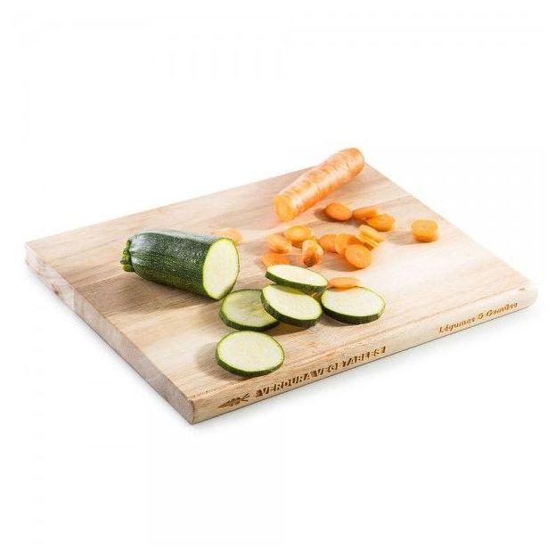 Schneidebrett in Buchform Gemüse