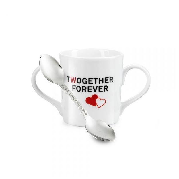 Tasse Twogether Forever mit Löffel