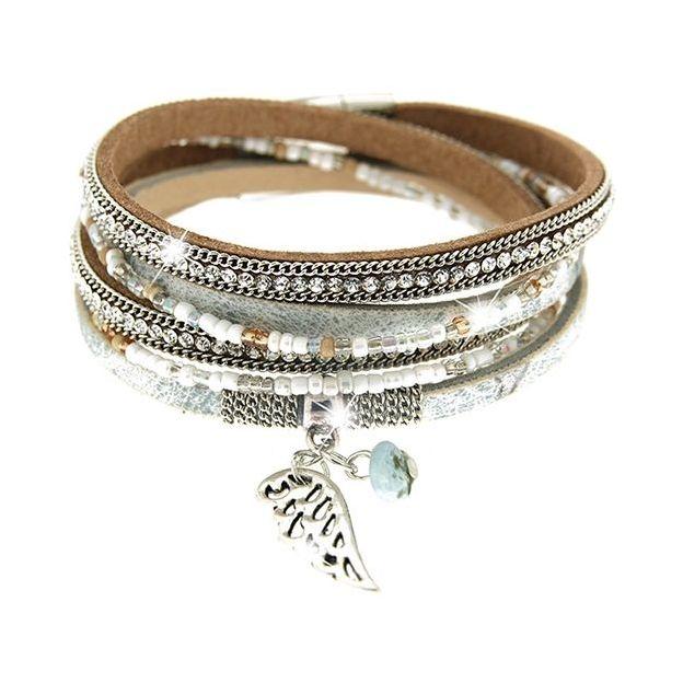 Armband Marica silber/grau