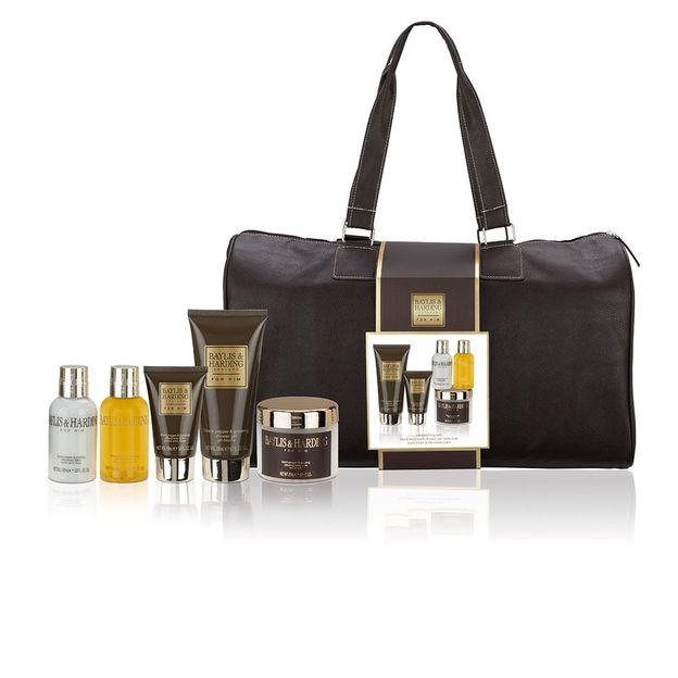 Weekend Bag mit Spa Produkten für Ihn Black Pepper & Ginseng
