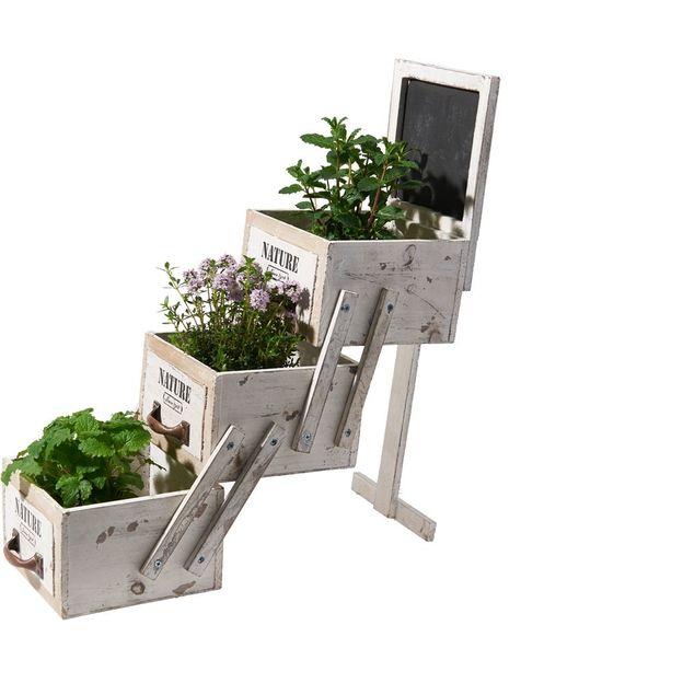 Jardinière 3 tiroirs en escalier