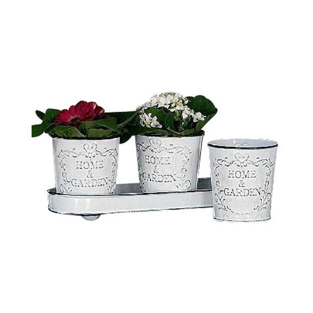 Pots de fleurs Vintage Home & Garden 4 pces