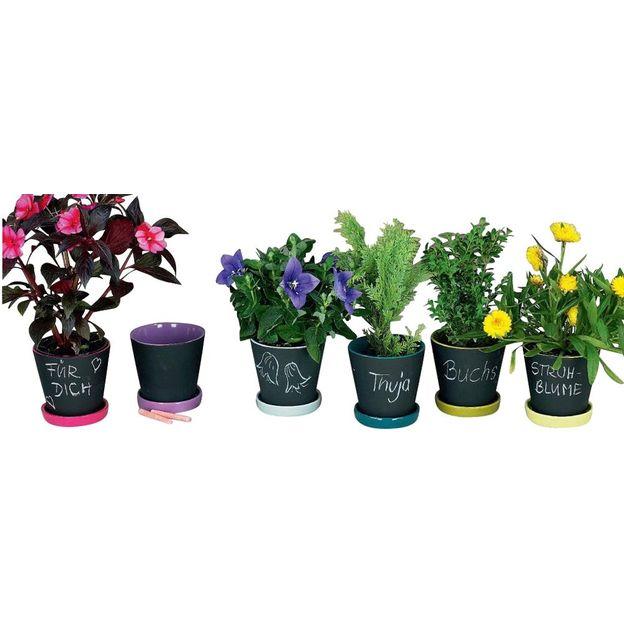 Pots de fleurs ardoise set de 6