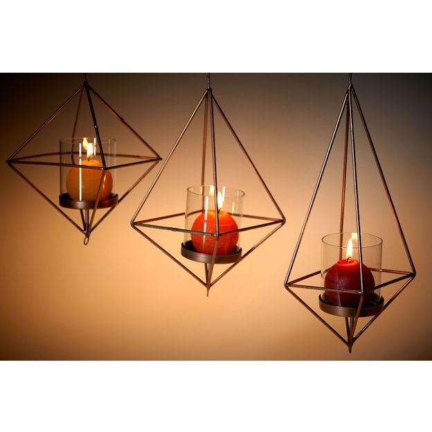 Lanternes géométriques Copenhagen set de 3