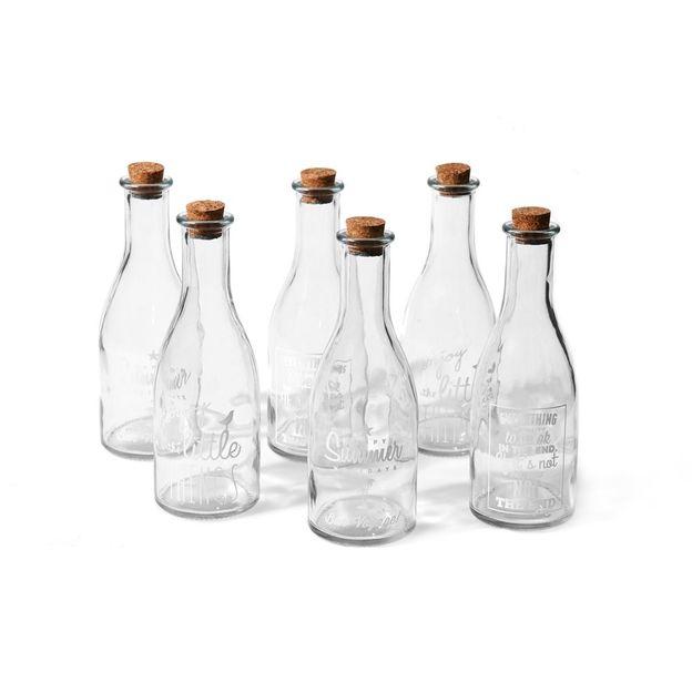 Glasflaschen Storage im 6er Set