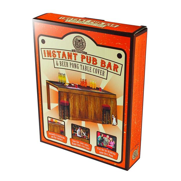 Bier Pong Tischtuch mit aufgedruckter Bar