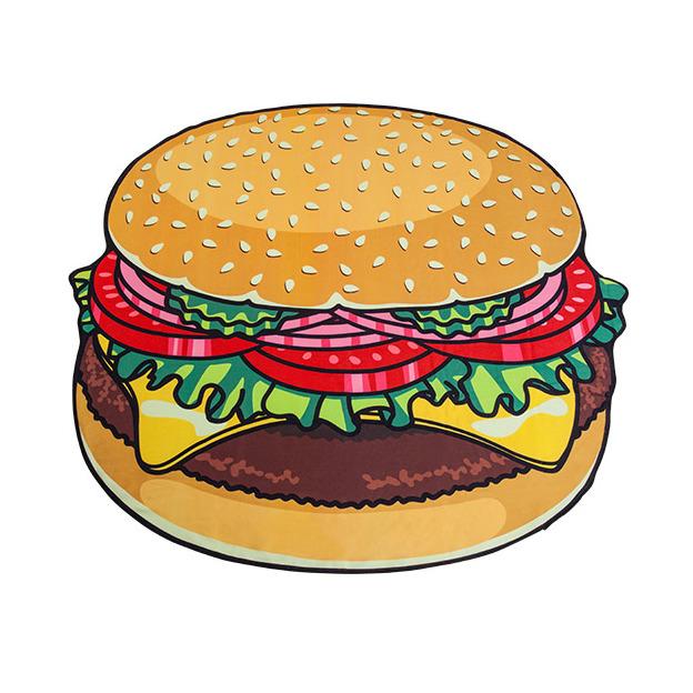 Serviette de plage XXL Hamburger