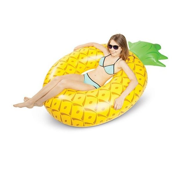 Luftmatratze und Schwimmring Leckereien Ananas