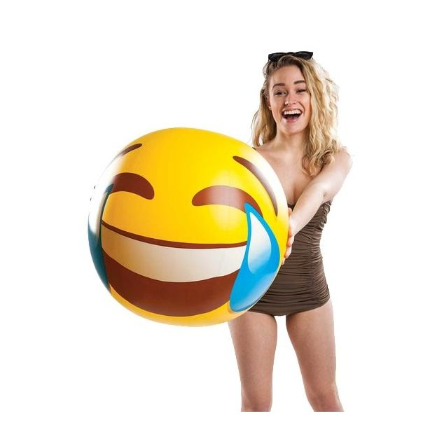 Strandball aufblasbar Emoticon