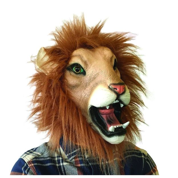 Masques animaux en latex pour adulte Lenny le lion