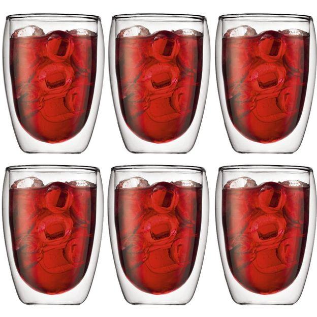 Pavina doppelwandige Gläser im 6er Set von Bodum